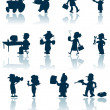 Royalty-Free Stock Imagen vectorial: Professions vector silhouette