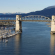 View from Granville bridge - Stock Photo