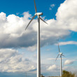 Wind Turbines - alternative and green energy source — Stock Photo