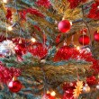 Christmas decoration on tree with light — Stock Photo