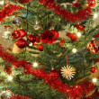 Detail of Christmas decoration on tree — Stock Photo