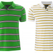 Front of the clean striped T-Shirts (Polo). — Stock Photo