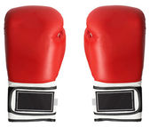 Boxing gloves isolated on white — Stock Photo