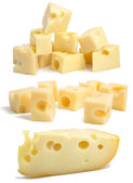 Set pieces of swiss cheese. — Stock Photo