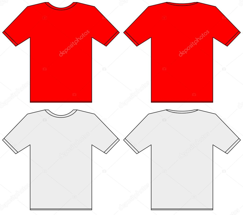 The gallery for red tshirt front and back for Back t shirt template