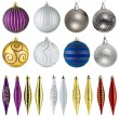 Stockfoto: Set of christmas balls isolated on white background