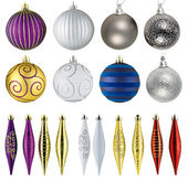 Set of christmas balls isolated on white background — Stock Photo