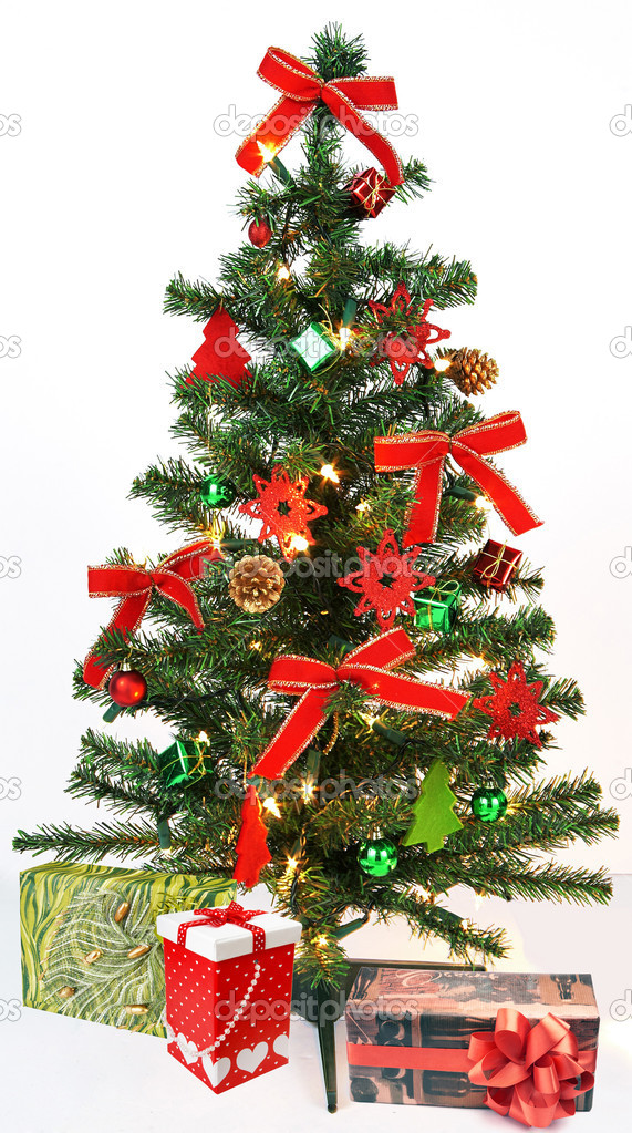 Christmas Tree with decorations and gifts  Stock Photo #4264434