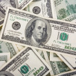 Stock Photo: Background with money american hundred dollar bills