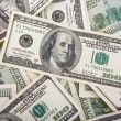 Background with money american hundred dollar bills - Foto Stock