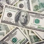 アメリカの 100 ドル紙幣の背景 — ストック写真
