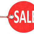 Royalty-Free Stock Photo: Red sale tag