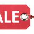 Stock Photo: Red sale tag