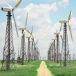 Stock Photo: Windmills in wind-farm