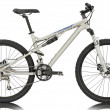 Sport silver bicycle - Stock Photo