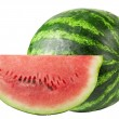 Studio shot of a flawless whole watermelon isolated on pure whit — Stock Photo #4618658