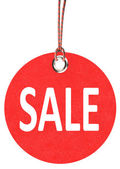 Red sale tag — Stock Photo