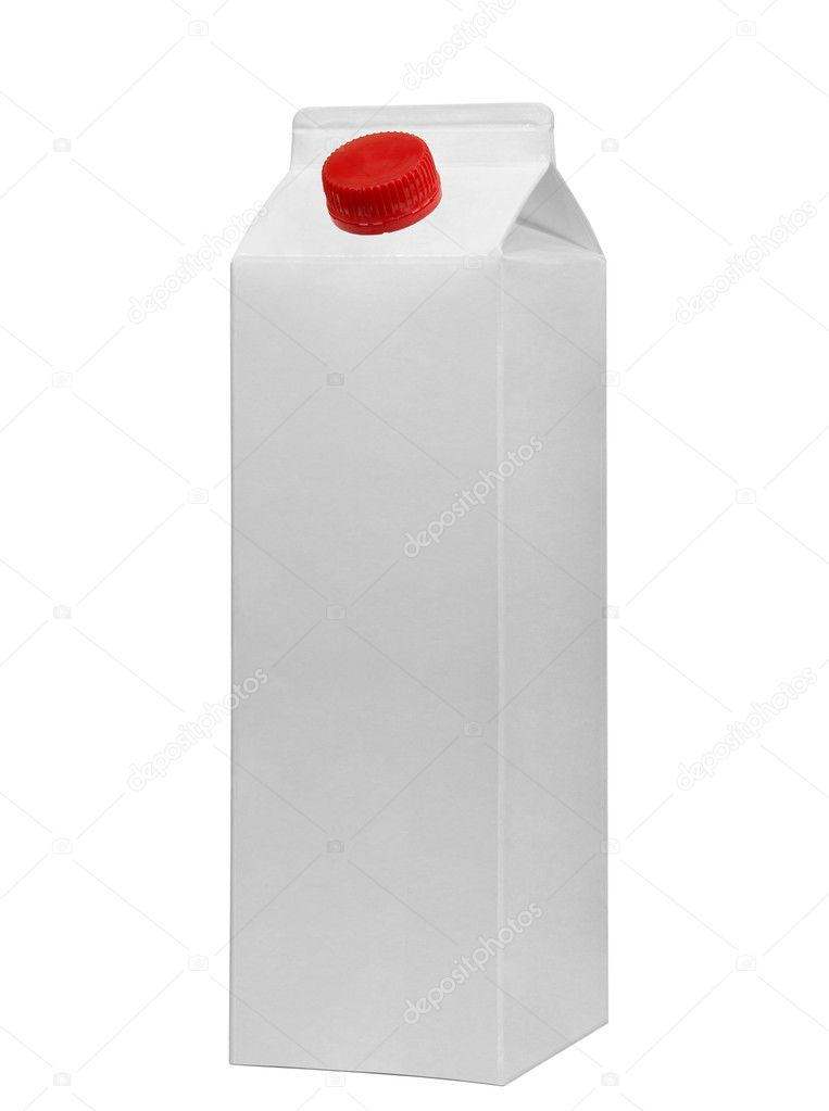 White tetrapak  Stockfoto #4618656