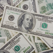 Background with scaned money american hundred dollar bills — Stock Photo