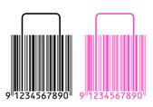 Shopping bags stylized as barcode — Stock Photo