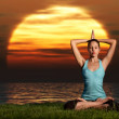 Yogi sunrise. - Stock Photo