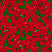 The red Christmas seamles pattern — Stockvektor