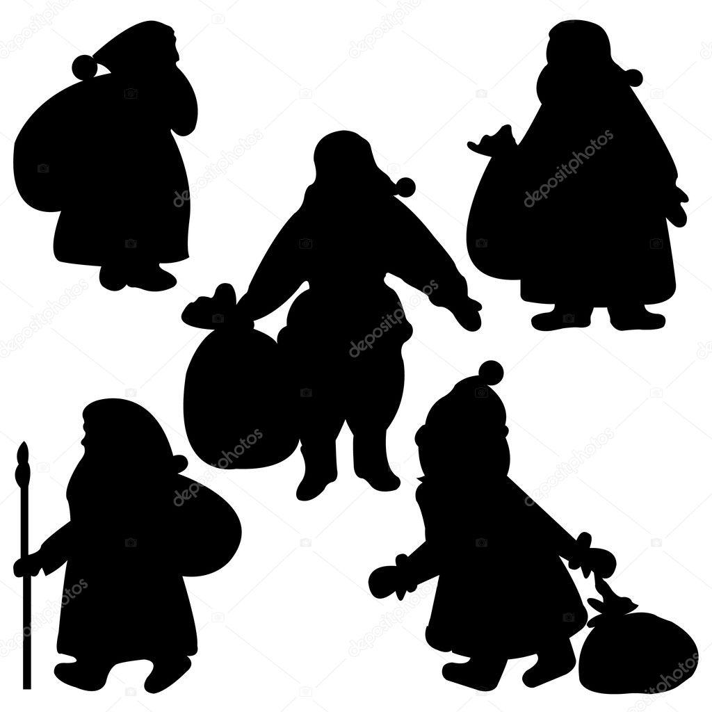 silhouettes du p re no l image vectorielle 4220209. Black Bedroom Furniture Sets. Home Design Ideas
