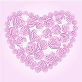 玫瑰的心 — 图库矢量图片