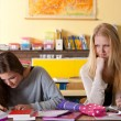 Two girls in the classroom — Stock Photo #4097566