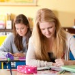 Two girls in the classroom — Stock Photo #4097576