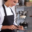 Stock Photo: Happy female chef