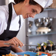Happy female chef — Stock Photo