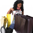 What's in the bags — Stock Photo