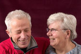 Laughing senior couple — Stock Photo