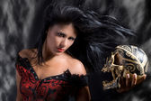 Angel of darkness — Stock Photo