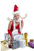 Happy christmas girl — Stockfoto