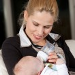 Stock Photo: mom and newborn