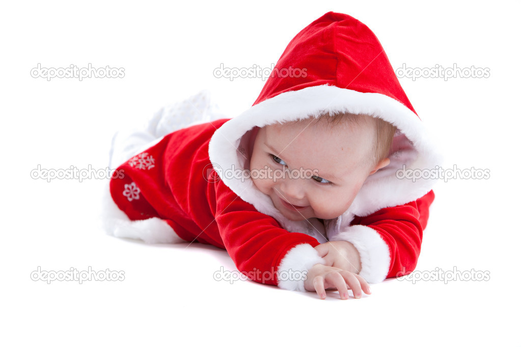 Cute baby in little santa suit stock photo 169 fotosmurf 4305857