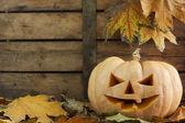 Raccapricciante zucca di halloween — Foto Stock