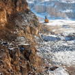 Winter quarry — Stock Photo