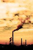 Zanieczyszczenia dymu — Zdjęcie stockowe