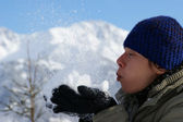 Winterfreude - Schnee — Stock Photo