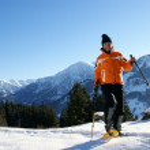 Schneeschuh-Wanderung — Stock Photo #4627362