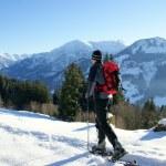 Schneeschuh Wanderung — Stock Photo #4627403