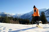Schneeschuh-Wanderung — Stock Photo