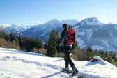 Schneeschuh Wanderung — Stock Photo
