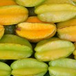Star fruit apple background - Stock Photo