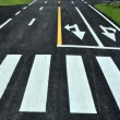 Stock Photo: Zebrway on road surface