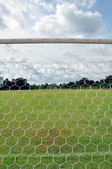 Behind the goal — Stock Photo