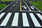 Zebra way on the road surface — Stock Photo